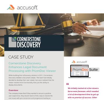 Cornerstone Discovery Case Study