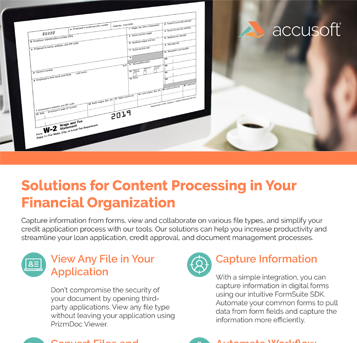 Financial Content Processing Fact Sheet