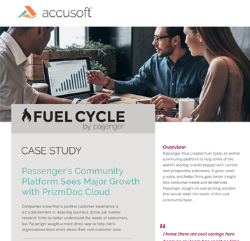Fuel Cycle Case Study