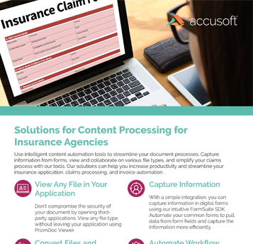 Content Processing for Insurance Agencies Fact Sheet