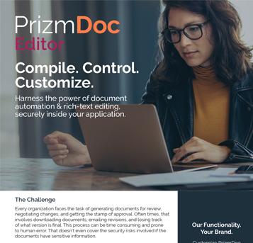 PrizmDoc Editor Fact Sheet