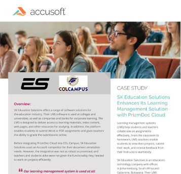 SK Education Solutions Case Study