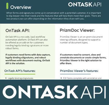 OnTask API Vs. PrzmDoc Viewer