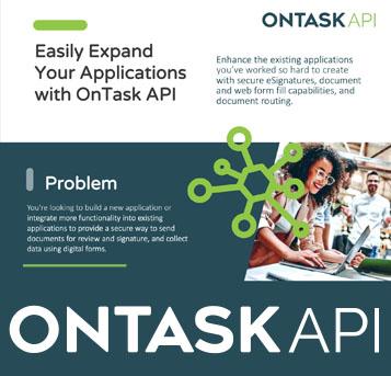 OnTask API Fact Sheet