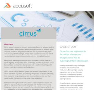 Cirrus Case Study