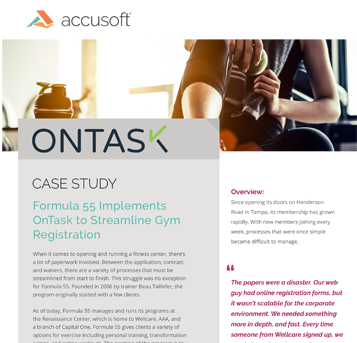Formula 55 Case Study